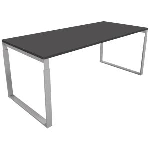 Hæve-sænke-bord Frame sort/alu 160 x 80 cm