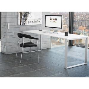 Hæve-sænke-bord Frame hvid/hvid 160 x 80 cm