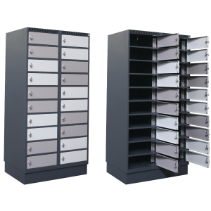 BLIKA CHARGING CABINET 20BOXES 160CM GRY