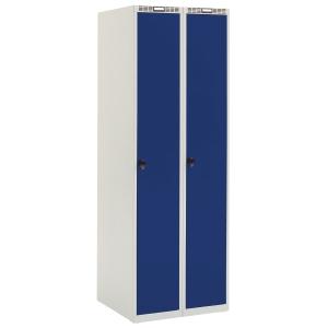Garderobeskab Blika 2 søjler blå