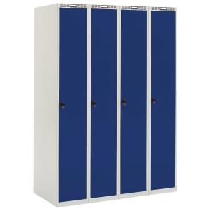 Garderobeskab Blika 4 søjler blå
