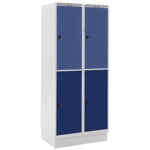 Garderobeskab Blika 2 søjler 4 bokse blå