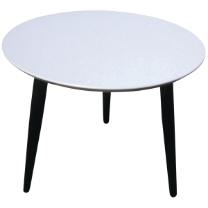 FUMAC LOUNGE TABLE 55CM WHITE W/BLACK