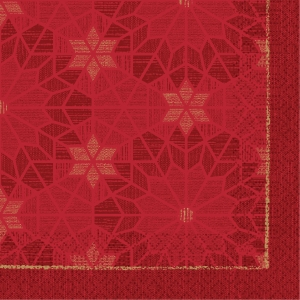 WALK OF FAME RED DUNILIN 176048 SERVIET 40X40 BUTTERMILK PK50