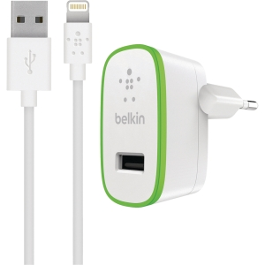 Oplader Belkin BOOST↑UP Home Lightning til USB, hvid