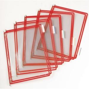 Lomme Tarifold t-technic, A4, rød
