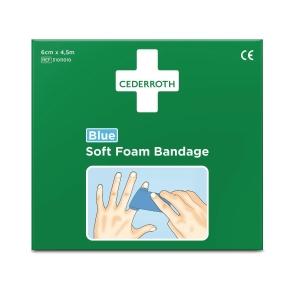 CEDERROTH SOFT FOAM BANDGE 6CMX4.5M BLUE