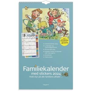 Vægkalender Mayland 0662 30, måned/familie, 2020, 4 kolonner 24 x 39 cm
