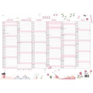 Vægkalender Mayland 0632 00, 2 x 6 måneder, 2020, A3