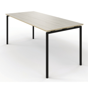 ZIGNAL CANTEEN TABLE 120X80 BIRCH W/BLK