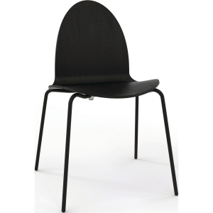 FUMAC 92103 SHELL CHAIR ASH 48 BLK