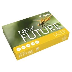 Papir til sort/hvid-print New Future Lasertech med hul A4 80 g pakke a 500 ark