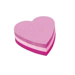Kubus hjerte Post-it, pink, 3 blokke