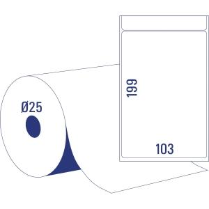 BX700AVERY TD8060-25 LAB 103X199MM DIA25