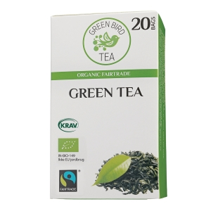 Te Green Bird Tea Grøn te, pakke a 20 breve