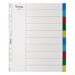 Faneblad Lyreco 10-delt A4 maxi