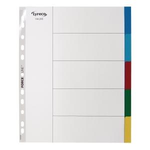 Faneblad Lyreco 5-delt A4 maxi