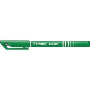 Fineliner Stabilo Sensor 189, 0,3 mm, grøn, æske a 10 stk.