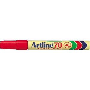 Permanent marker Artline 70, rund, rød
