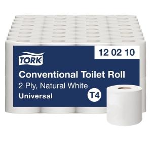 Toiletpapir Tork T4 natur 2-lag Universal 120210 sæk a 64 ruller