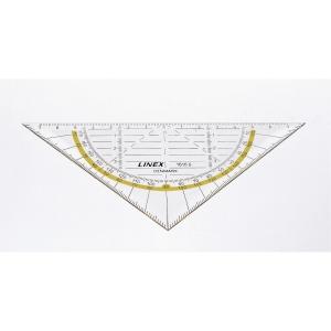 Geometritrekant Linex, 16 cm, 45 grader