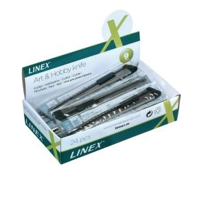 Hobbykniv Linex, 9 mm, metal, pakke med 24 stk.