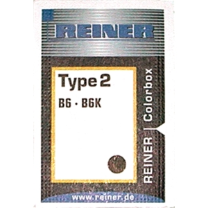 Stempelpude Reiner Colorbox, type 2, 6 cifre, sort