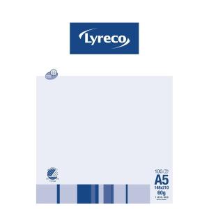 Notesblok lyreco, A5, linjeret, med huller,