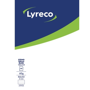 LYRECO SHORTHAND NOTEBOOK 180X225 MM