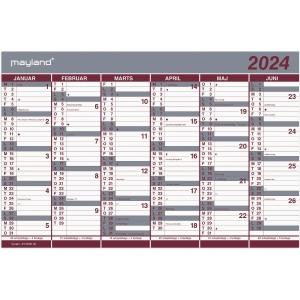 KALENDER MAYLAND 0630 00 DOBBELT HALVÅRSKALENDER 2020 44X29 CM