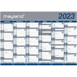 MAYLAND 0640 00 WALL CALENDAR BIG 2X6 MONTH