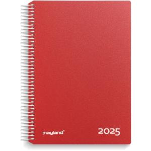 KALENDER MAYLAND 2180 10 TIMEKALENDER 2020 1 DAG PVC-FRI PP RØD