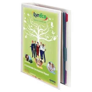 ESSELTE A4 WHITE 4D-RING PRESENTATION BINDER 20MM