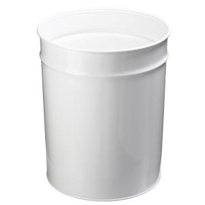Papirkurv Twinco, metal, 20 L, hvid