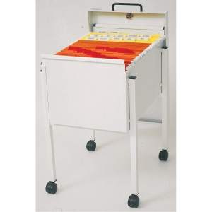 LYRECO SUSP/FILE TROLLEY LOCKABLE A4 WH