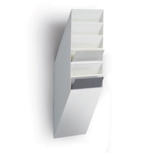 Skråfag Durable Flexiboxx, 6 bakker, A4, stående, hvid