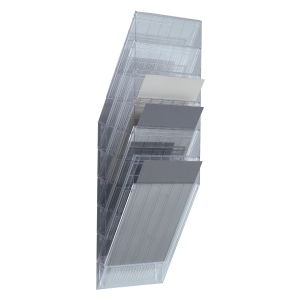 Skråfag Durable Flexiboxx, 6 bakker, A4, stående, transparent