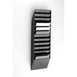 Skråfag Durable Flexiboxx, 12 bakker, A4, liggende, sort