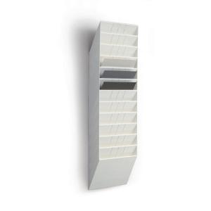 Skråfag Durable Flexiboxx, 12 bakker, A4, liggende, hvid