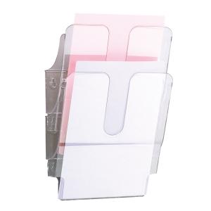 Skråfag Durable Flexiplus, 2 bakker, A4, stående, transparent