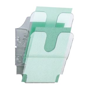 Skråfag Durable Flexiplus, 2 bakker, A5, stående, transparent