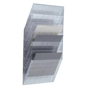 Skråfag Durable Flexiboxx, 6 bakker, A4, liggende, transparent