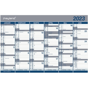 CALENDAR MAYLAND 0630 00 WALL CALENDAR DOUBLE THIS YEAR 44X29 CM