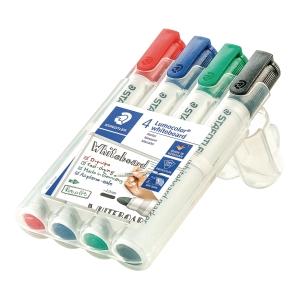Whiteboardmarker Staedtler Lumocolor 351, pakke a 4 farver