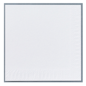 Servietter Duni 1-lag 24 x 24 cm hvid pakke a 500 stk