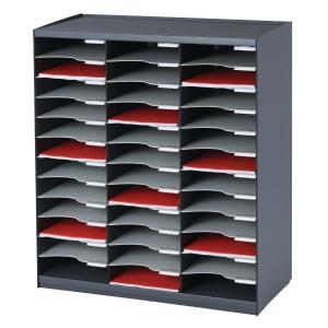 Arkivsystem Paperflow, A4, 36 hylder, grå/sort