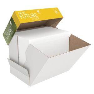 Papir til sort/hvid-print New Future Lasertech multibox m/hul A4 80 g 2500 ark