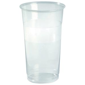 Plastglas fadøl splintfri 50 cl pose a 40 stk