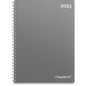 CALENDAR MAYLAND 2000 00 A5 WEEK CALENDAR VERTICAL DARK GRAY