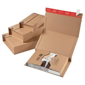 Forsendelsesæske ColomPac, A5+, 251 x 165 mm, brun